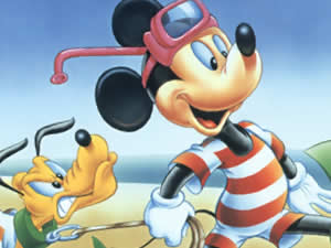 Mickey and Pluto Coloring