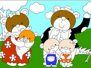 The Bear Family Coloring