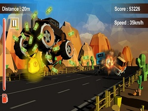 Furious Road Game: Low Poly Car Racing