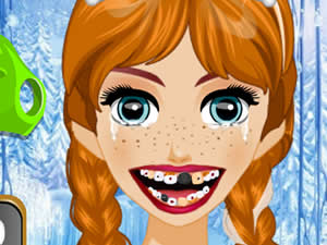 Anna and Elsa at the Dentist