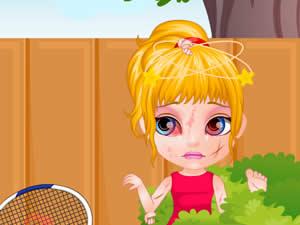 Baby Barbie Sports Injury