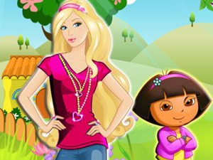 Barbie in Dora Game