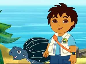 Diego With Sea Turtle