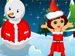 Dora and Snowman Christmas Decor