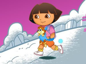 Dora Snow Fight