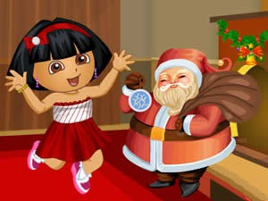 Dora With Santa Dress Up