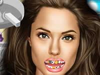 Angelina Jolie at the Dentist