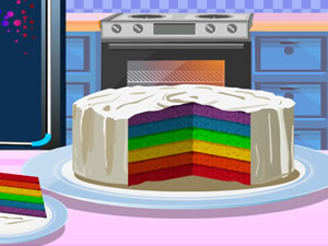 Love Rainbow Cake