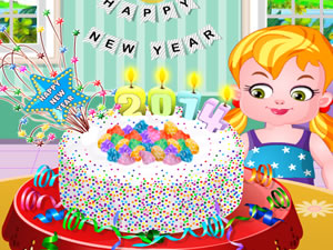 New Year Confetti Cake