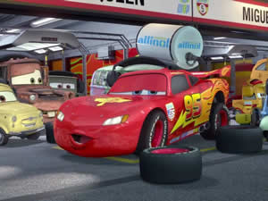 McQueen Cars Hidden Tires