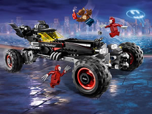 Batman Lego Hidden Car Tires