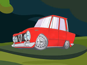 Alfa Romeo Cartoon Puzzle