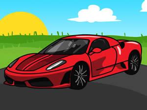 Ferrari Cartoon Puzzle
