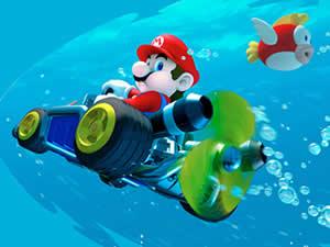 Mario Driving Underwater