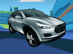 Maserati Cartoon Puzzle