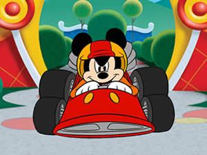 Mickey Racing Car