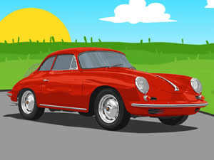 Porsche Cartoon Puzzle