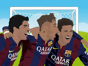 Suarez Neymar and Messi