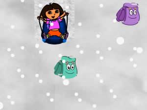 Dora Sledding