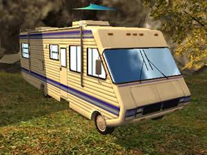 Camper Van Parking 3D