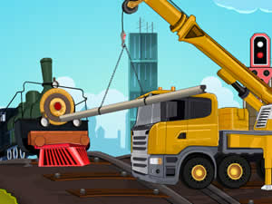 Rail Road Crane Parking