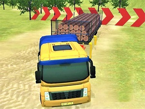 Modern Offroad Uphil Truck Driving