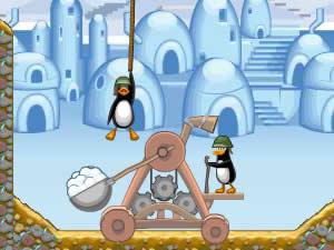Катапульта и Пингвины