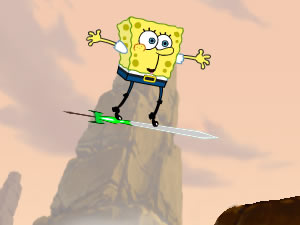 Spongebob flying sword