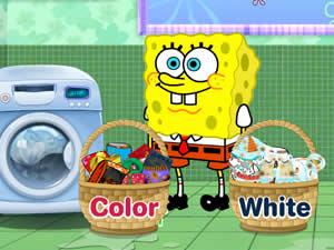 SpongeBob Washing Pants