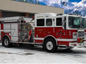 Winter Firefighters Trucks